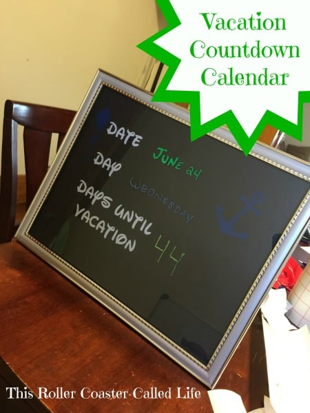 Vacation Countdown Calendar