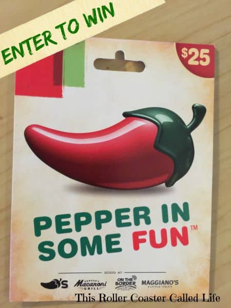 Chilis Gift Card Giveaway