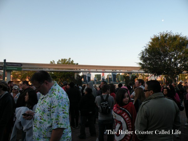 Crowds at Disneyland Star Tours The Adventure Continues Preview Event