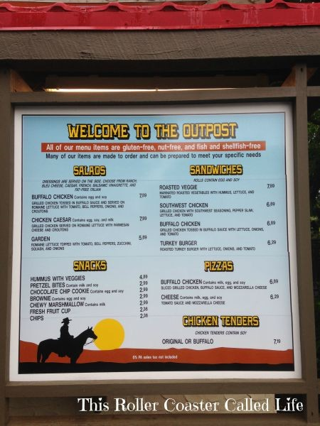 The Outpost at Hersheypark Menu
