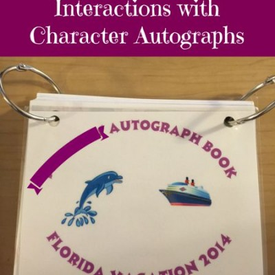 Disney Character Interactions with Character Autographs