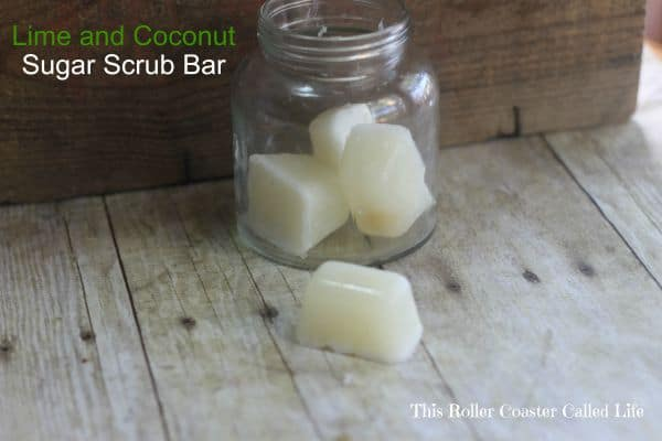 Lime and Coconut Sugar Scrub Bar