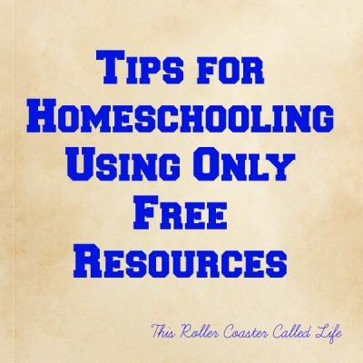 Tips for Homeschooling Using Only Free Resources