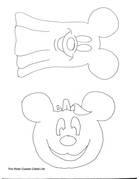Mickey Halloween Stitch Template