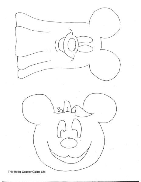 Mickey Halloween Stitch Template