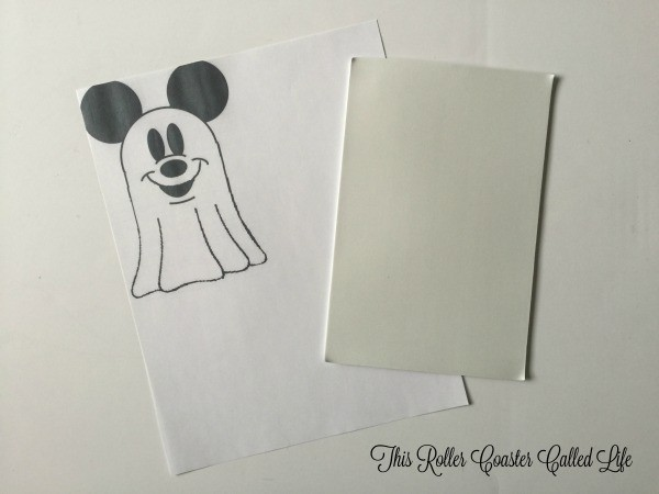 Preparing the Mickey Ghost