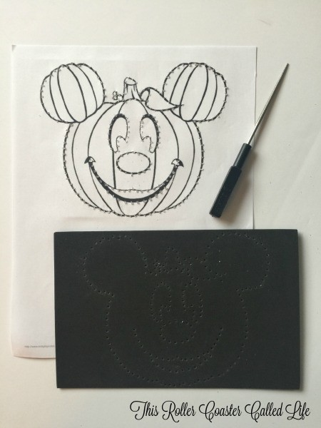 Preparing the Mickey Pumpkin