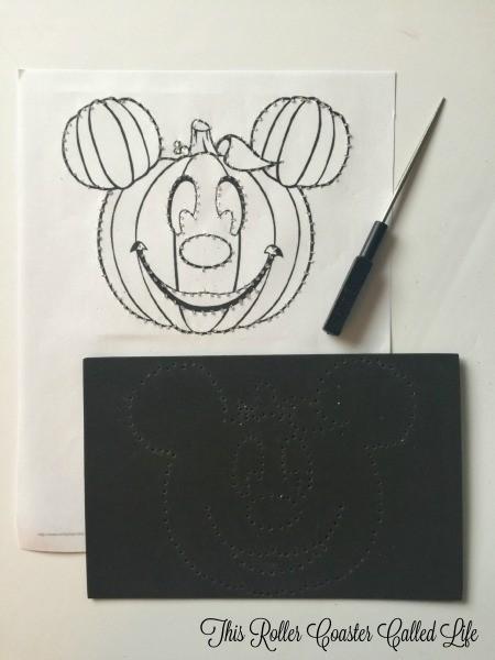 Preparing the Mickey Pumpkin