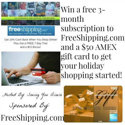 WIN a $50 AMEX Gift Card from FreeShipping.com