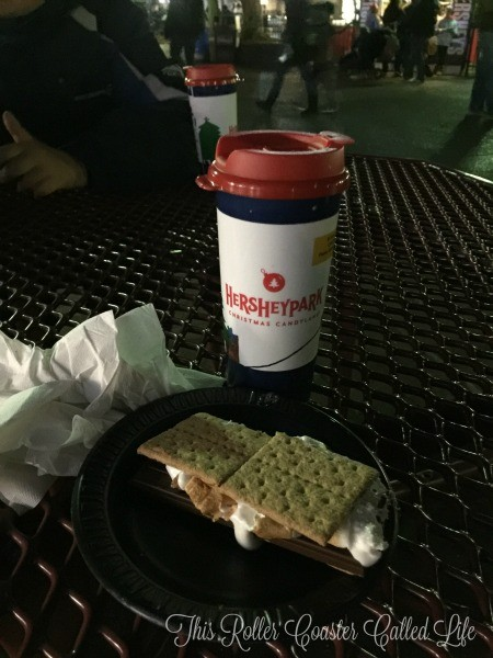 Hersheypark Hot Chocolate and Smores