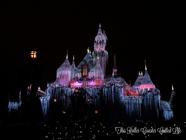 Sleeping Beauty Castle at Christmas