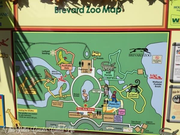 Brevard Zoo Map