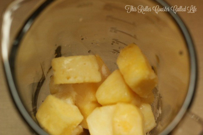 Frozen Pineapple Whip in Process