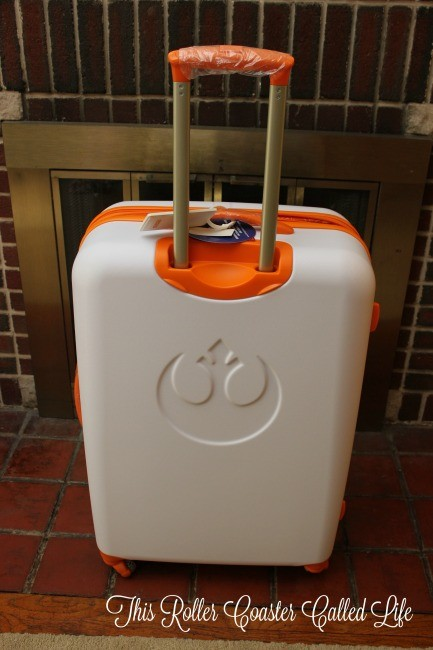 BB8 American Tourister Suitcase Backside