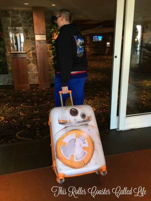 Taking the American Tourister Star Wars Suitcase on the Road