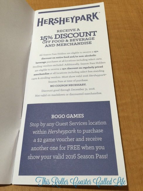 Hersheypark Season Pass Discount Book Example