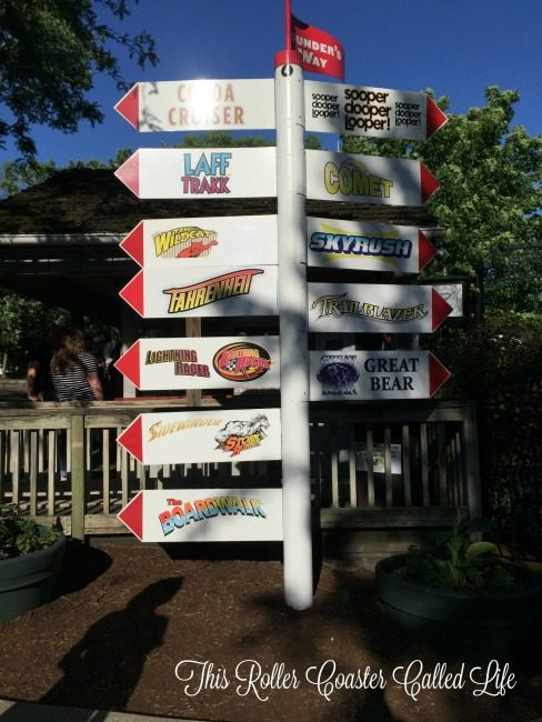 Hersheypark Ride Sign