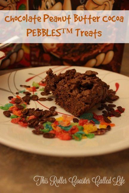 Cocoa PEBBLES Peanut Butter Chocolate Treats