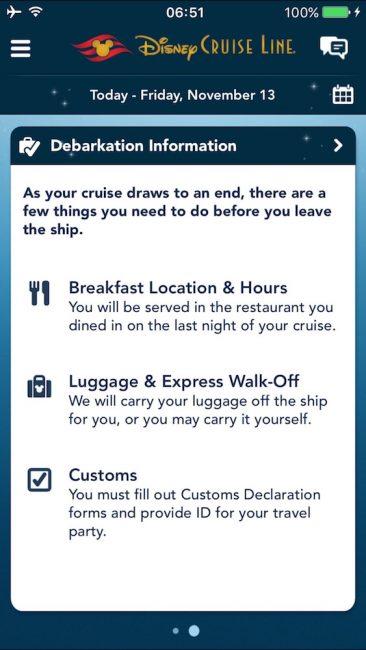 DCL Debarkation Information