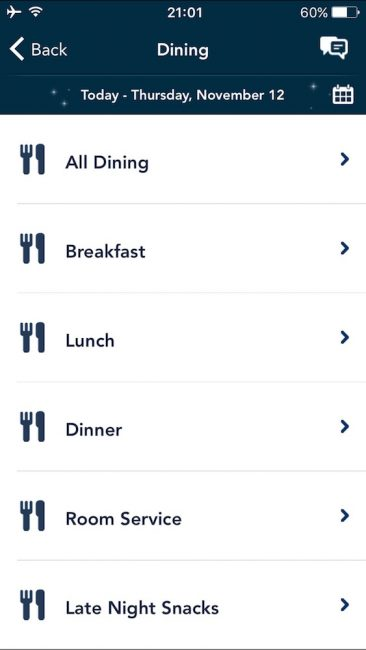 DCL Dining Options