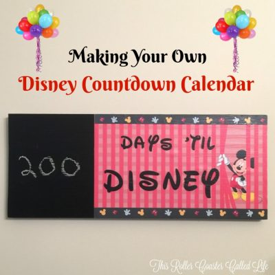 Making Your Own Disney Countdown Calendar
