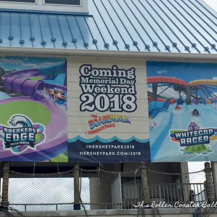 New Rides Coming to Hersheypark Summer 2018 – Breakers Edge & Whitecap Racer
